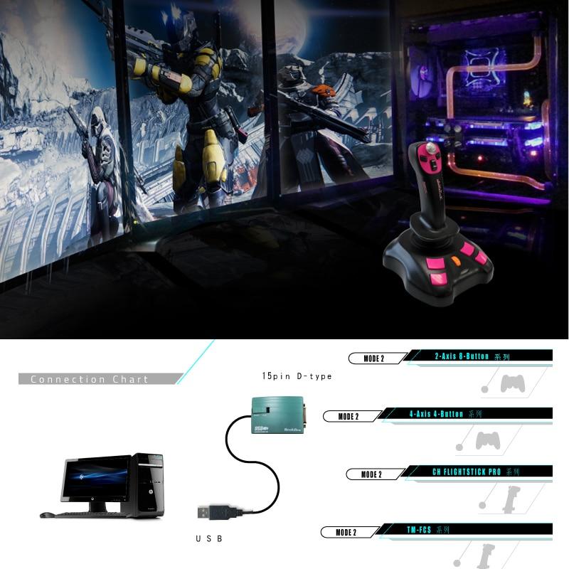 Image 5 - NEW USB to 15 Pin Female MIDI Joystick Game Port Adapter Nest Converter Rockfire 15 P RM 203 GAMEPORT 98/ME/2000/XP *FD047Connectors   -