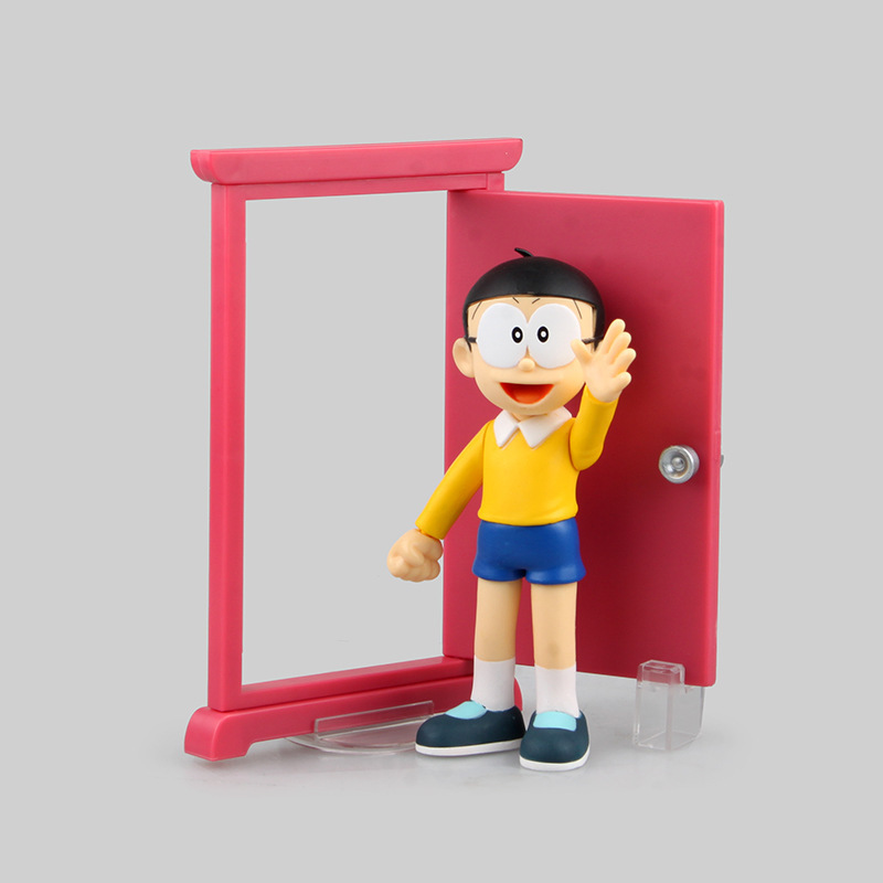 Doraemon Figure Nobita Figure Nobita Nobi ZERO Dokodemo Doa PVC 15cm Toy PVC Action Figures Doll Toys