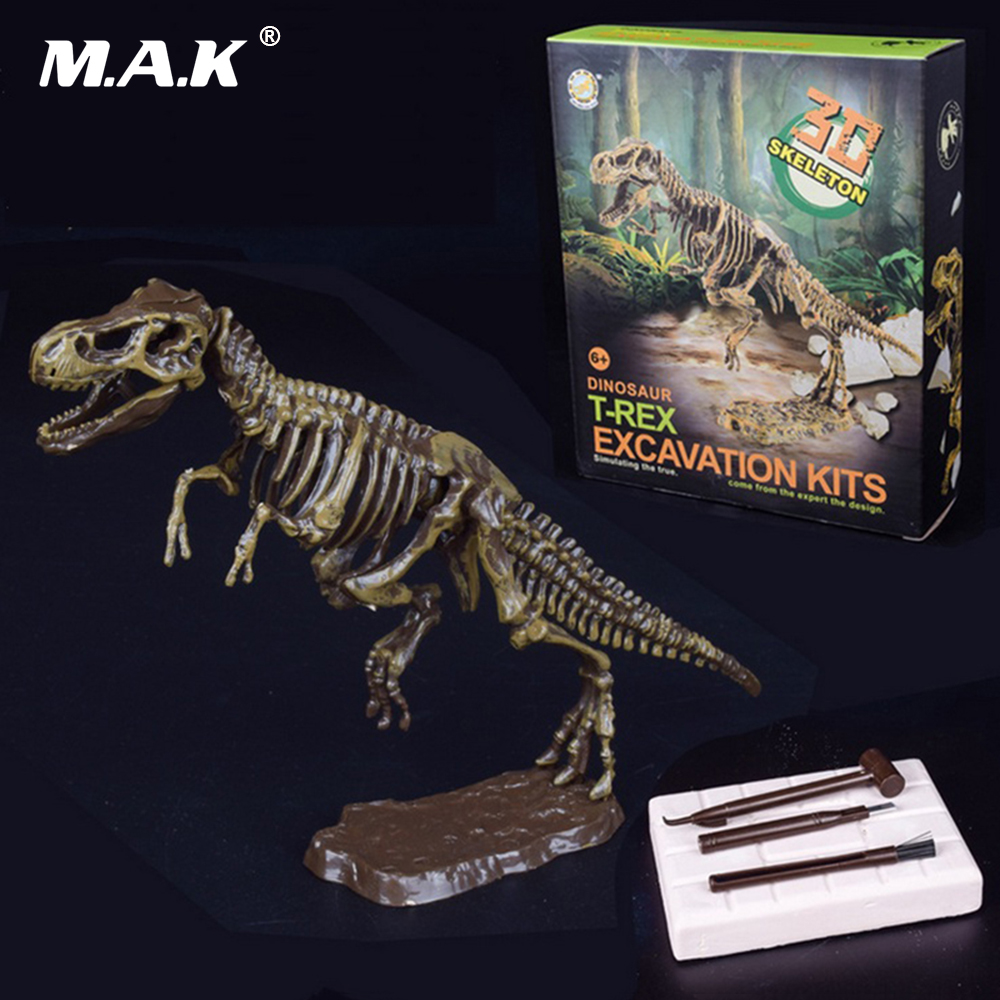Digging A Dinosaur Manmoth Ancient Animal Excavation Model Kits 3D Skeleton DIY Children Adult Gift Toy Jigsaw Puzzles metal diy nano 3d puzzle model tiger tank kids diy craft 3d metal model puzzles 3d solid jigsaw puzzle