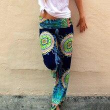 Винтажные женские штаны с этническим принтом,, широкие штаны, свободные прямые брюки с низкой талией, 4XL, штаны для йоги, женские леггинсы для пилатеса