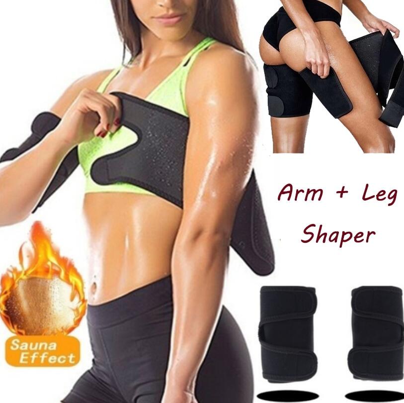 1 Pair Women's Arm Leg Control Shapers Sauna Slimmer Arm Pad Slimming Trimmer Arm Leg Shapers Sleeve Anti Cellulite Belt