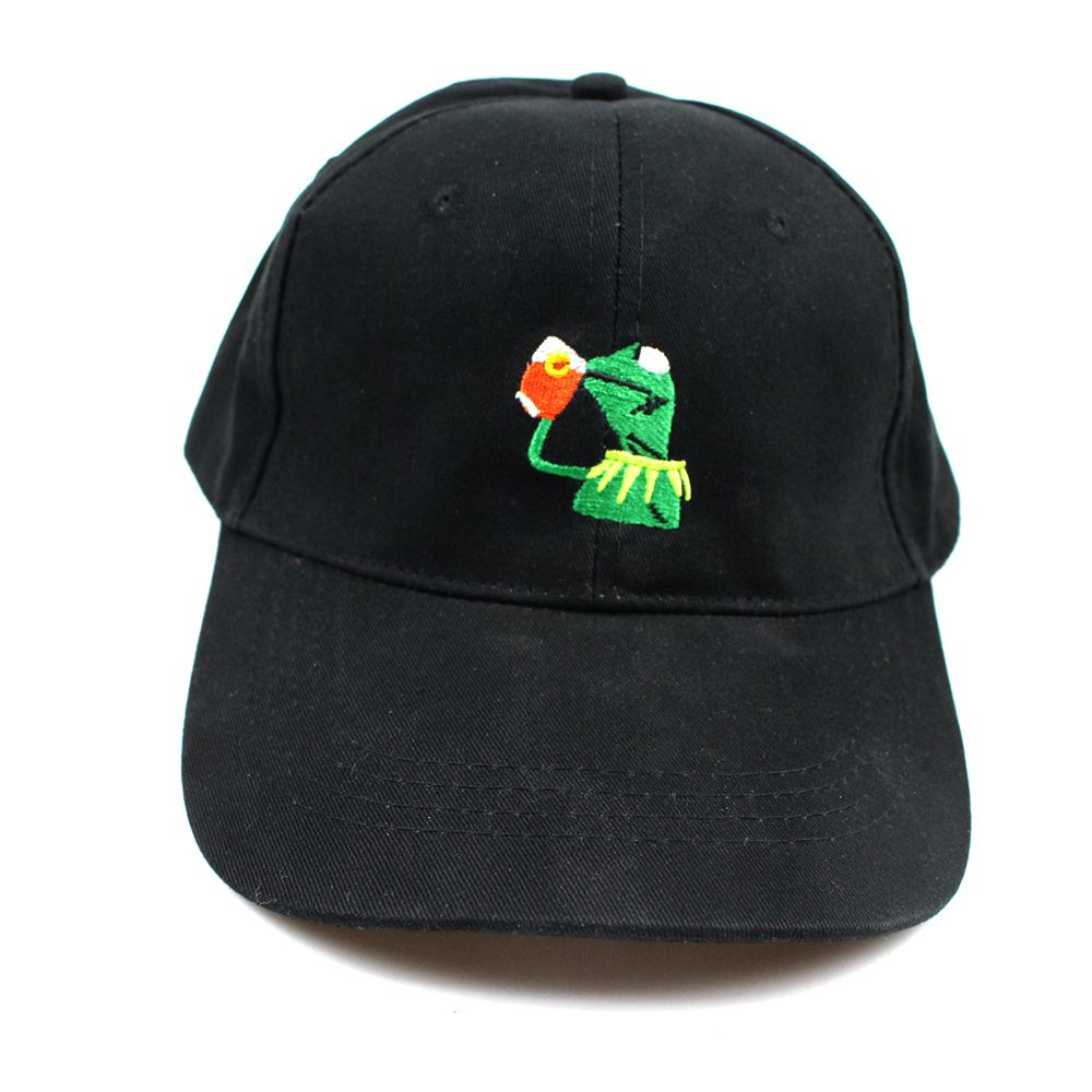Us 3 35 12 Off Kermit None Of My Business Unstructured Dad Hat Cap Frog Tea Lebron James New Casquette Kenye West Ye Bear Dad Cap Big Daddy Hat In