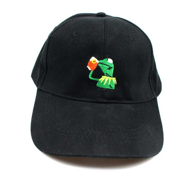 KERMIT NONE OF MY BUSINESS UNSTRUCTURED DAD HAT CAP FROG TEA LEBRON JAMES  NEW casquette kenye aba7216c02e6