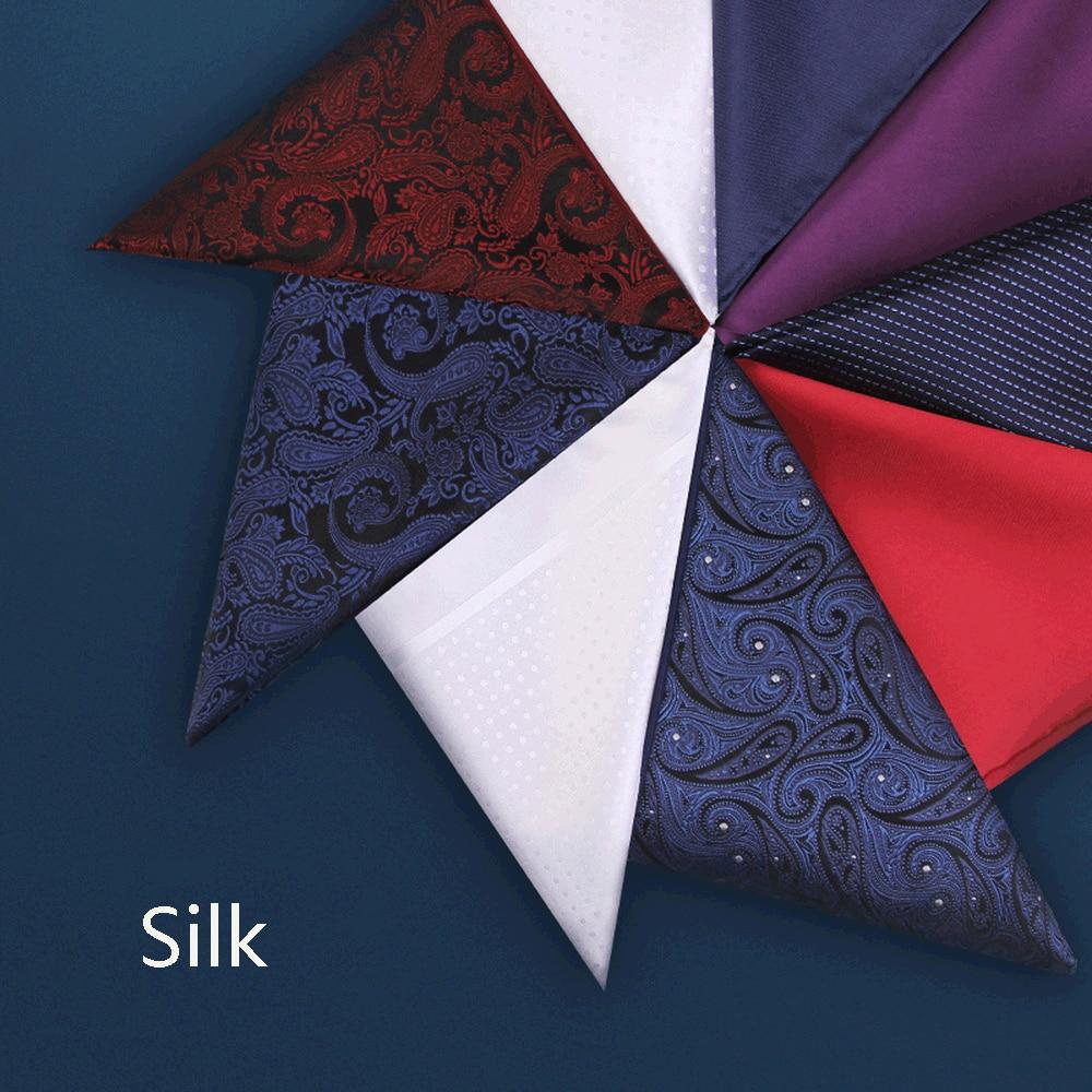 Men's Wedding Bag  Handkerchief Silk Pocket Towel Suit Square Towel  White Chest Towel