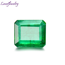 LOVERJEWELRY Natural Emerald Loose Gemstone Colombia Stone For DIY Rings Pendants NGSTC Certificate Natural Emerald Fine Jewelry(China)