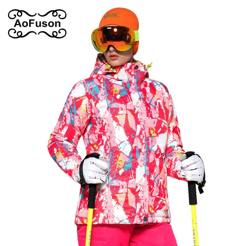 Roupas ski hiver veste chaude femmes snowboard ski de montagne vêtements neige imperméable thermique manteau vestes jaqueta feminina