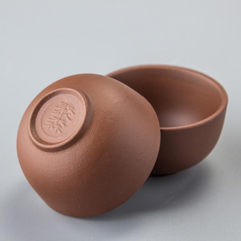 Шай кесе Кофе шыны күлгін саз чаека Қытай кунг фу керамикалық шай жиынтығы Шайнекті шай ыдысы үшін Фарфор шай шайнайтын кесе D053