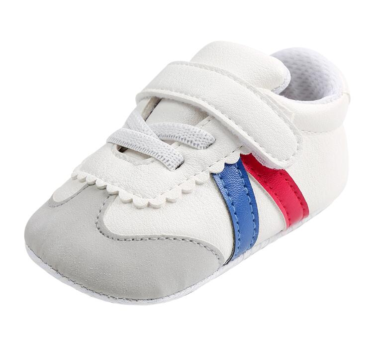 New Fashion PU Leather baby sneaker toddler first walker soft soled baby moccasins Newborn boys girls shoes for 0-18M