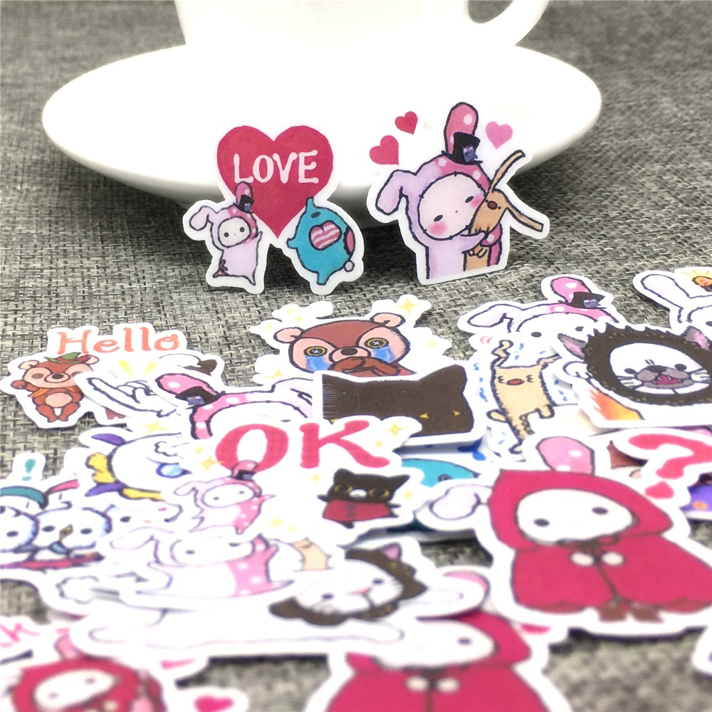 40 Different Cartoon characters Paper Sticker Decoration DIY Ablum Diary Stickers Scrapbooking Label Sticker Kawaii Stationery