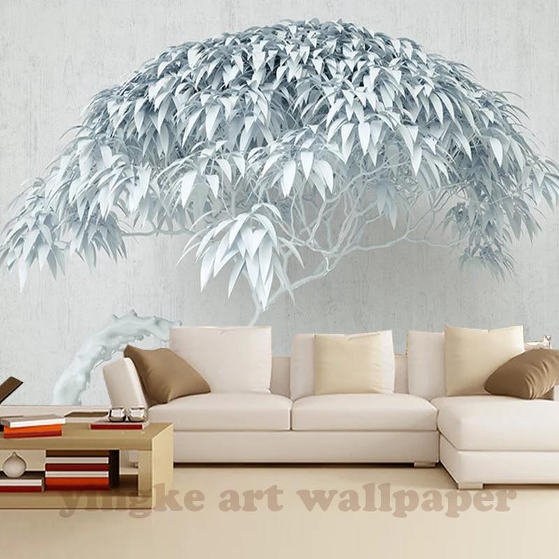 Custom Wallpaper 3D Living Room Bedroom TV Originality Tree Stone Texture TV Background Walls Mural Wallpaper For Walls 3 D