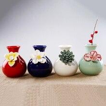 4 color Ceramic Flower Vase Carve patterns tabletop Vases office Home Wedding Decoration hollow out ceramic vase