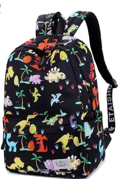 Joyloading Cartoon Printed Dinosaur Preppy Students Schoolbag Shoulders Backpack  Kids Pack 9e5a3f29f1