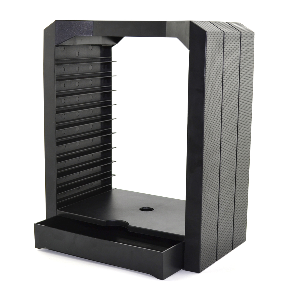 DiscStorage Multifunctional Universal Games Disc Storage Tower for Xbox One for <font><b>PS4</b></font> controller with charging stand <font><b>dock</b></font> <font><b>charger</b></font>
