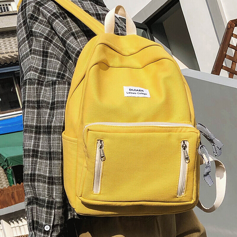 Fashion Women Famous Cotton Backpacks Preppy Female Travel Bag Black School Bags For Teenage Girls Bookbag Mochilas Mujer
