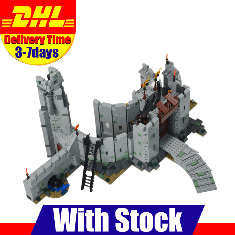 2018 New LEPIN 16013 1368Pcs The Lord of the Rings The Battle Of Helm's Deep Model Building Kit Blocks Bricks Toy Gift With 9474 new lepin 16009 1151pcs queen anne s revenge pirates of the caribbean building blocks set compatible legoed with 4195 children