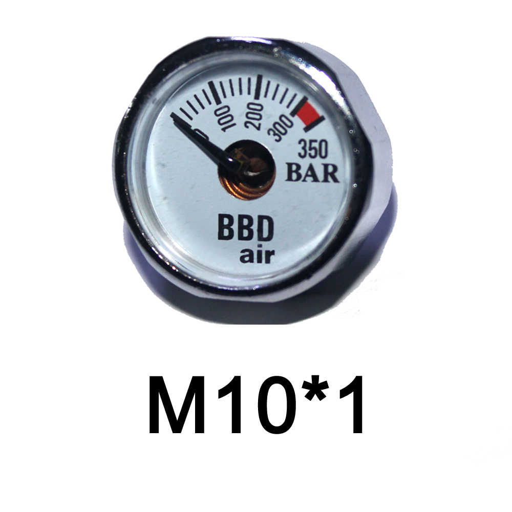 Купить с кэшбэком Paintball Accessories Hand Pump Airsoft PCP AirGun Mini 350bar Manometer 1/8NPT M10*1 gauge