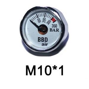 Image 5 - ペイントボールアクセサリーハンドポンプエアガン PCP エアガンミニ 350bar 圧力計 1/8NPT M10 * 1 ゲージ