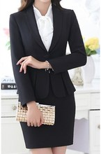 Uniform Grey Formal Business Suits For Women