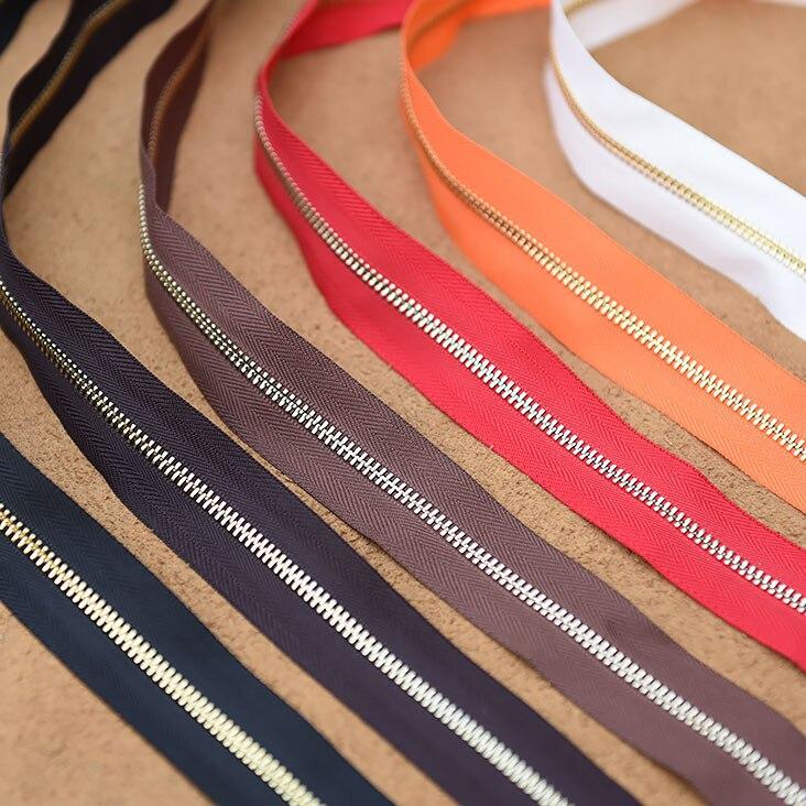 3 # и 5 # Медь металлическая молния 45 см Длинные DIY кожаная сумка на молнии бумажник на молнии (лучше, чем ykk и Riri) вышивание молния одежда