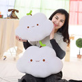New Coming 2 Style Kawaii Soft Smiley Face Bow Cloud Pillow Cotton Stuffed Cushion Plush Toy Fast Sihpping