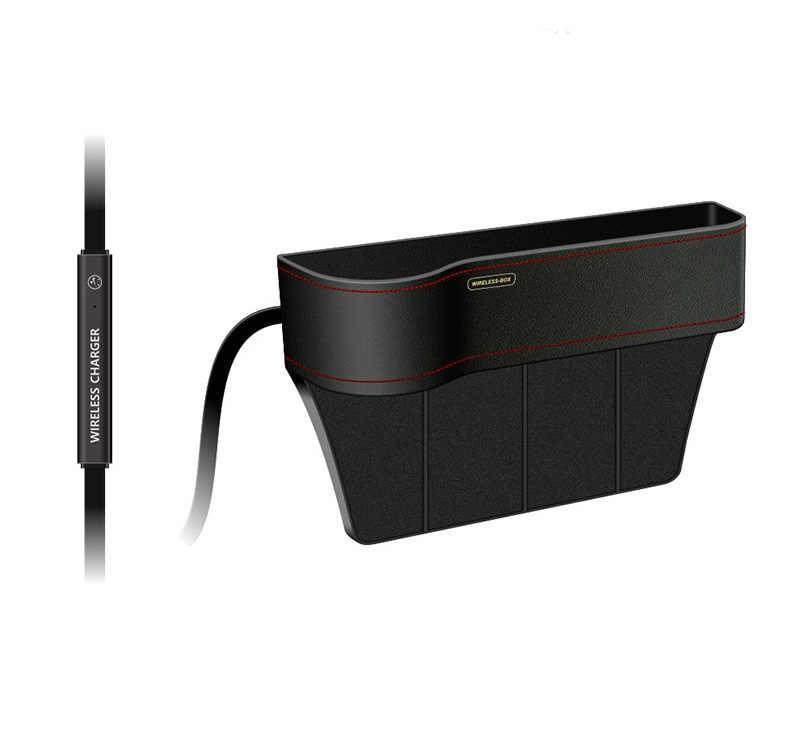 Caja de almacenamiento de la estación del cargador inalámbrico Qi de 10w para el soporte del teléfono del coche de carga rápida del iPhone para Samsung rápidamente cargador