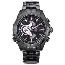 watch men stainless steel quartz-watch sports fashion luminous chronograph stopwatch waterproof 100m Wrist watches CASIMA #8202
