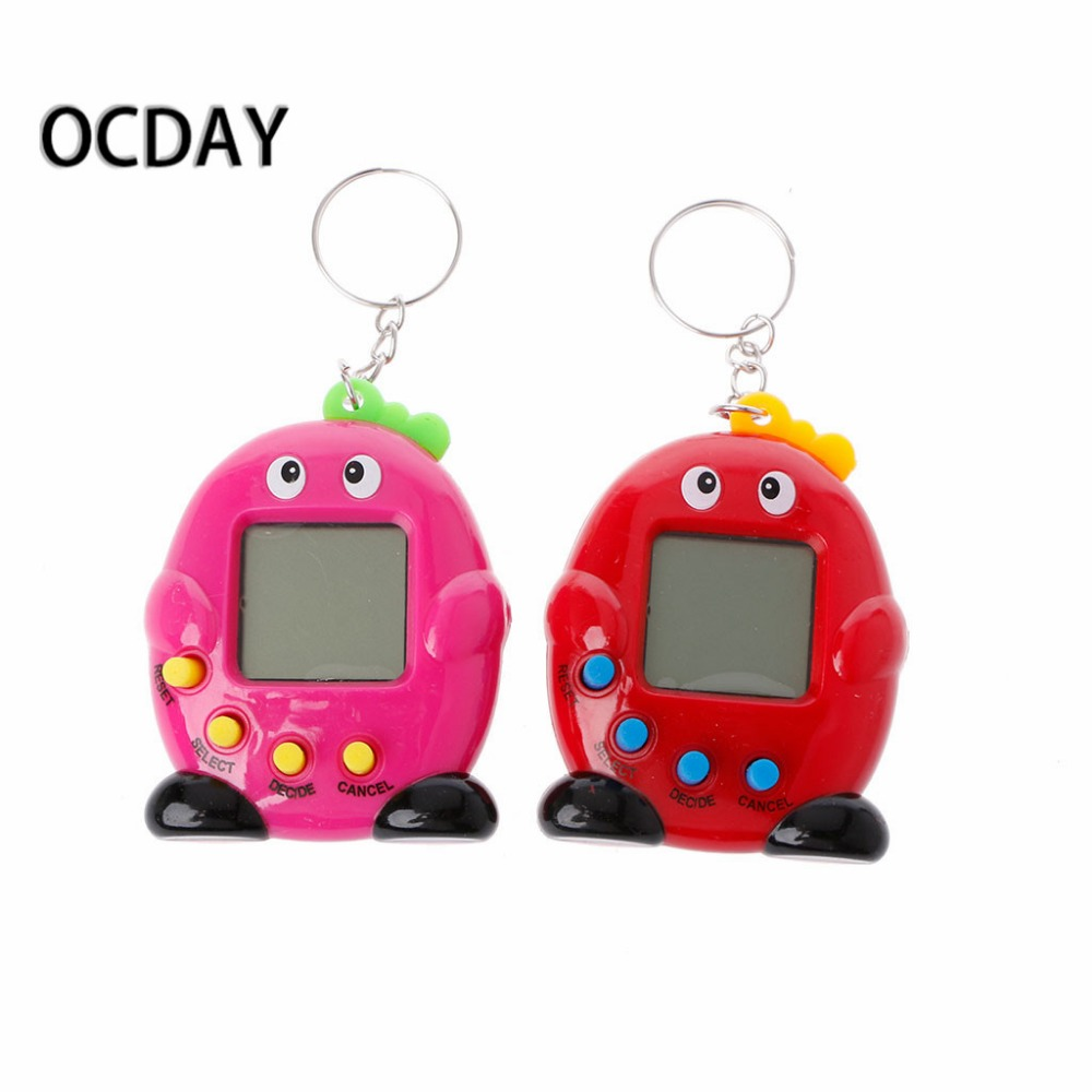 1PC Cute Penguin LCD Virtual Digital Pet Electronic Game Machine With Keychain christmas gifts for children