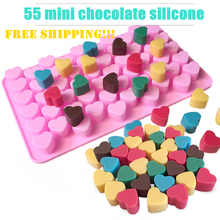1 Set 5pcs Mini Heart 55 Cavity Silicone DIY Biscuit Candy Tools Mold Chocolate Mold, Gummy Jello