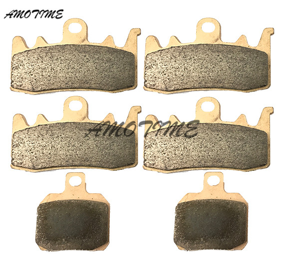 Motorcycle Parts Copper Based Sintered Motor Front & Rear Brake Pads For Ducati Hypermotard SP 821CC 2013-2015 899 Panigale 14 motorcycle parts front brake pads kit for suzuki gsx1300 2013 2015 rgsxr 600 gsxr 750 l1 2011 copper based sintered