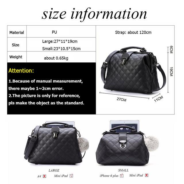 2017 Bolsas Feminina Retro Women Messenger Bags Handbag Doctor Bag Fashion Designer Shoulder Pu Leather Handbags Tote