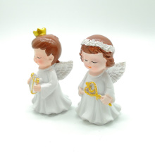 resin angel cake topper birthday decoration fortnight cupcake wedding anniversaire