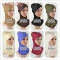 Cruz completa interior Cap Hijab musulmán mujeres viscosa Jersey llanura Soild Hijab islámico Underscarf Head Wear sombrero capó tubos Wraps