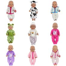 Doll Jump Suits Fit For 43cm Baby Born Zapf Doll Reborn Baby Clothes And 17inch Doll Accessories(China)