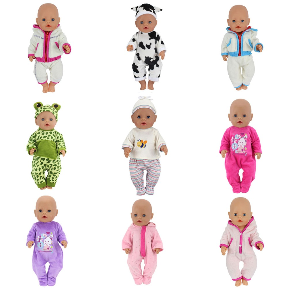 Doll Jump Suits Fit For 43cm Zapf Baby Born Doll Reborn Baby Dolls Clothes And 17inch Doll Accessories