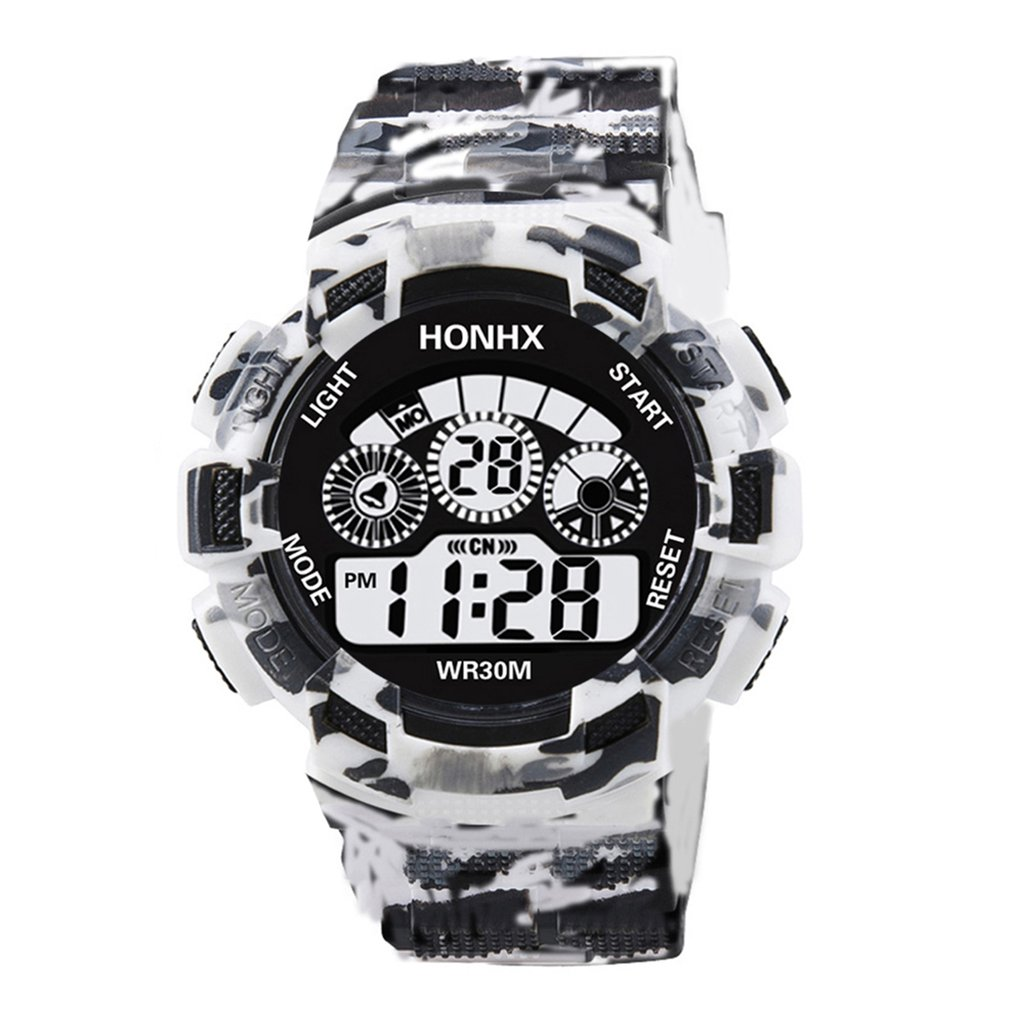 Watches For Men Outdoor Watch LED Digital Watch Silicone Military Electronic Watch  Waterproof Sport