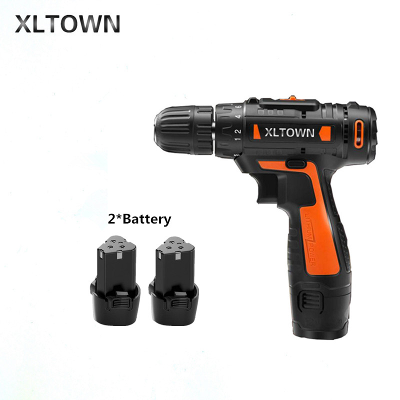 все цены на Xltown12v Cordless Mini Electric Drill with 2 battery Multi-energy lithium battery Two-speed electric screwdriver Electric dril онлайн