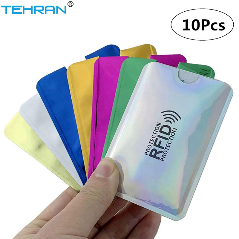 10 Pcs With Color Anti-scanning Card Sets Anti-theft RFID Card Protection Set Identity Anti-sweep Card Sets Portable Card Sets