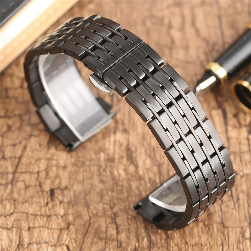 Watchband 20mm 22mm 24mm Steel Watch Band Strap Men Women Watchstraps Bracelet for Watches Clock Hours Push Button Hidden Clasp men s stainless steel watch straps for blancpain leman fifty fathoms clock strap women luxury watchband 20mm ladies bracelet page 1