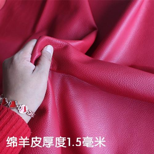70*70 cmpeau de mouton rouge, cuir, main, bricolage, matériau, épaisseur, 1.5mm