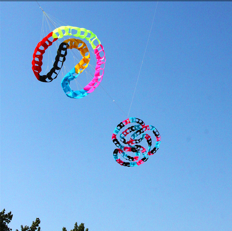 free shipping large kite windsock outdoor toys power kite 96 hole rainbow tails albatross kite surf beach fun flying dragon