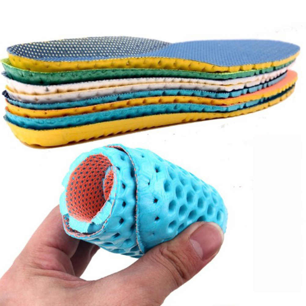 1 Pair Unisex Sport Shoes Insoles Orthopedic Sneakers Memory Foam Arch Support Soft Insert Soles Pad
