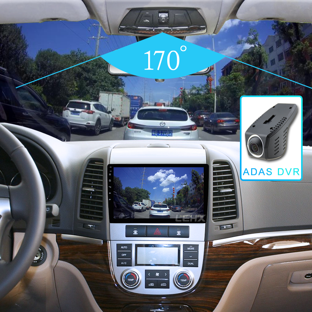LEHX Car Radio  Android 8.1  2 Din Multimedia Player For Hyundai Santa Fe 2005-2012 WIFI Car DVD Gps Navigation
