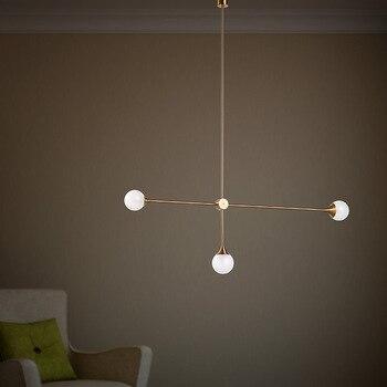 Nordic 3 Lights Art Style Living Room Pendant Light Loft Geometric Dining Room Light Coffee Shop Light With Led Bulbs