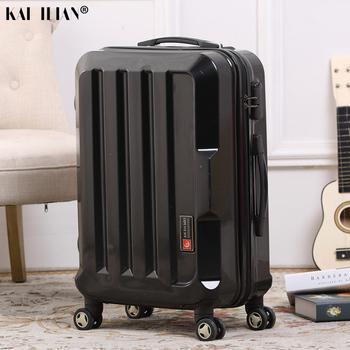 20 #8221 24 #8221 walizka na kółkach podróżna męska walizka na kółkach srebrna czarna walizka na bagaż podręczny tanie i dobre opinie NoEnName_Null 30CM Rolling przechowalnia 50CM Spinner 74CM Unisex black silver men s suitcase trolley luggage bags spinner travel luggage