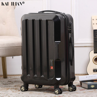 20''24'' travel suitcase on wheels Men spinner rolling luggage Silver black carry on trolley suitcase fashion Cabin luggage