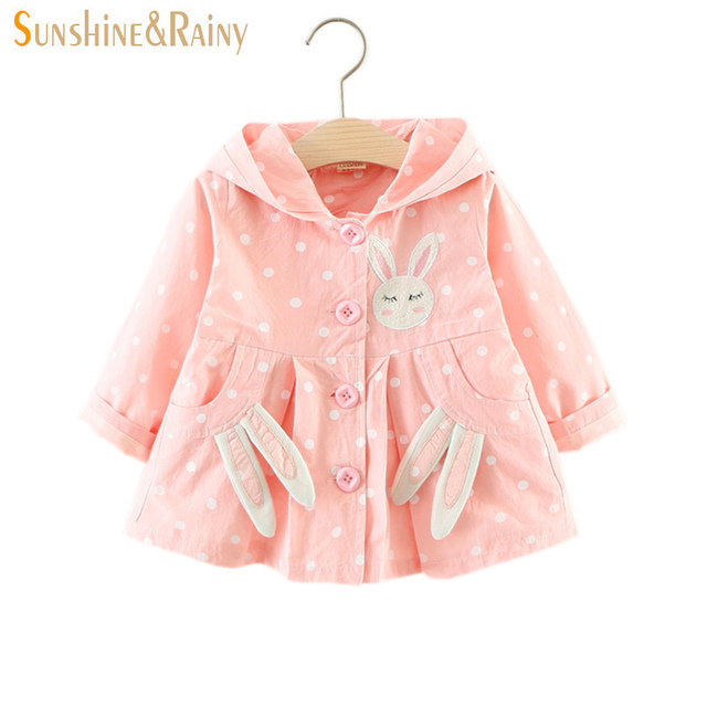 2c44e576e Sunshine   Rainy Autumn Baby Girl Jacket Clothes Cute Rabbit Hooded ...