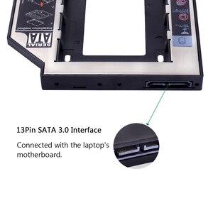 "Image 3 - kphrtek Second 2nd HDD Caddy 12.7mm 2.5"" SATA 3.0 SSD Case Hard Drive Enclosure Adapter + LED for Laptop CD ROM DVD ROM Optibay"