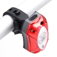 3W LED USB Rechargeable Rear Back Bicycle Light Rain Waterproof LED Bycicle Light Safety Cycling Bike