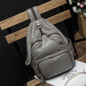 Image 2 - DDWB003 Brand Leather Schoolbag Female Backpacks Women Preppy Style High Quality Sweet Ladies Knapsack Beautiful Girl Backpack
