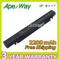 Apexway 4 células bateria do portátil para asus a41-x550 a41-x550a a450 a550 K450 F450 F552 P550 K550 P450 R409 R510 X450 X550 Series
